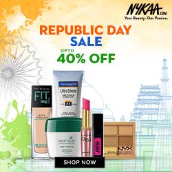 Nykaa Republic Day Sale – Upto 40 % Off